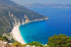 Beautiful greek beach Stock Photos