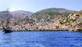 Beautiful Greek island, Hydra Royalty Free Stock Photo