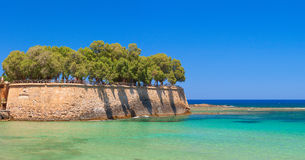 Beautiful greek island with pure blue water. Chania Royalty Free Stock Photography