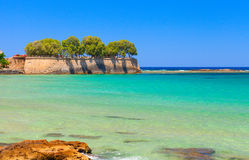 Beautiful greek island with pure blue water. Chania Stock Photography