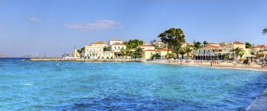 Beautiful Greek Island, Spetses Royalty Free Stock Image