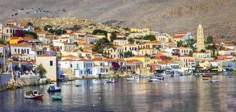 Beautiful Greek islands - Chalki Stock Photos