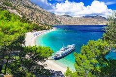 Beautiful Greek islands - Karpathos, Apella beach royalty free stock images