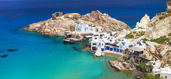 Beautiful Greek islands - Milos, Fyropotamos village Royalty Free Stock Photos