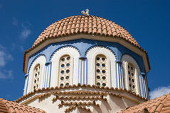 Beautiful greek orthodox church on crete island, greek Royalty Free Stock Images