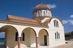 Beautiful greek orthodox church on crete island, greek Royalty Free Stock Photo