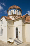 Beautiful greek orthodox church on crete island, greek Stock Photos