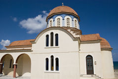 Beautiful greek orthodox church on crete island, greek Royalty Free Stock Photos