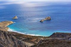 Beautiful greek seascape. East Crete. Xerokampos beaches. Beautiful greek seascape at east Crete. Xerokampos beaches royalty free stock image