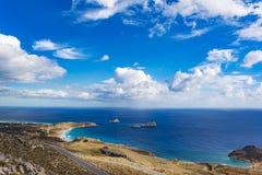 Beautiful greek seascape. East Crete. Xerokampos beaches. Beautiful greek seascape at east Crete. Xerokampos beaches royalty free stock photo