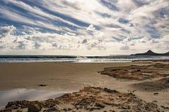 Beautiful greek seascape. East Crete. Xerokampos beaches. Beautiful greek seascape at east Crete. Xerokampos beaches royalty free stock photos