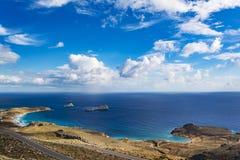 Beautiful greek seascape. East Crete. Xerokampos beaches. Beautiful greek seascape at east Crete. Xerokampos beaches stock photo