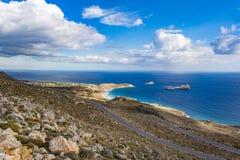 Beautiful greek seascape. East Crete. Xerokampos beaches. Beautiful greek seascape at east Crete. Xerokampos beaches stock photos