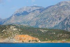 Beautiful greek seascape at sunny day Royalty Free Stock Photo