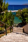 Beautiful greek village Bali with amazing beaches and views on Crete island, Greece.  royalty free stock image