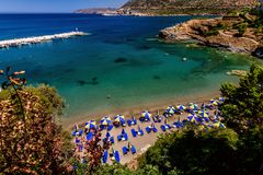 Beautiful greek village Bali with amazing beaches and views on Crete island, Greece.  stock images