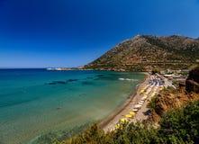 Beautiful greek village Bali with amazing beaches and views on Crete island, Greece.  stock image