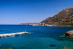 Beautiful greek village Bali with amazing beaches and views on Crete island, Greece.  stock photography