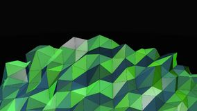 Beautiful Green Abstract Motion Background, Seamless Looping stock video