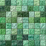 Beautiful green abstract seamless texture of plastic glass tiles Royalty Free Stock Photo