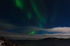 Beautiful green aurora Royalty Free Stock Photo
