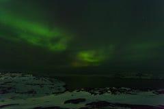 Beautiful green aurora Royalty Free Stock Photos