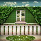 BIO Room. The beautiful Green Bio Room with view of the Garden Royalty Free Stock Photography