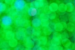 Beautiful green bokeh background Stock Images