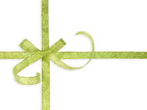 Beautiful green bow Royalty Free Stock Images
