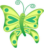 Beautiful green butterfly posing and smiling Stock Image