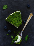 Beautiful green cake with spinach Stock Photos