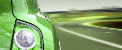 Beautiful green car. Stock Image