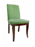 Beautiful green chair. On a white background Stock Images
