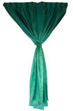 Beautiful green cloth curtains Royalty Free Stock Image