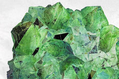 Beautiful Green Crystals Stock Images