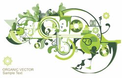 Beautiful green design Royalty Free Stock Image