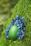 Beautiful green Easter egg Royalty Free Stock Image
