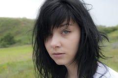Beautiful Green Eye Girl Stock Images