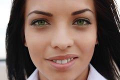 Beautiful green-eyed girl Royalty Free Stock Image