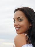 Beautiful green-eyed girl Stock Photography
