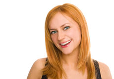 Beautiful green-eyed smiling woman Royalty Free Stock Images