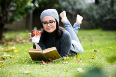 Beautiful green eyed young woman in warm clothes Royalty Free Stock Photo
