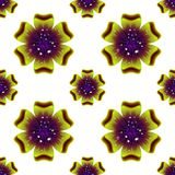 Beautiful green flower. Seamless floral pattern. Vector Royalty Free Stock Photos