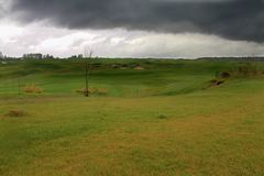 Golf course after rain royalty free stock photo