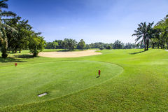 Beautiful green golf course in Thailand Royalty Free Stock Photography
