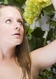Beautiful green grape Royalty Free Stock Photos
