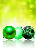 Beautiful green happy Christmas card. EPS 8 Royalty Free Stock Photography