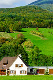 Beautiful green hiils of Alsace, France Royalty Free Stock Image