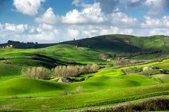 Beautiful green hills in Tuscany Stock Photos