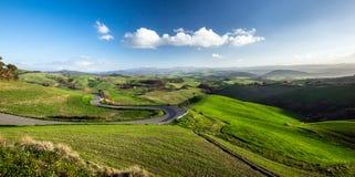 Beautiful green hills in Tuscany Stock Image